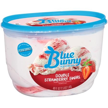 PRAIRIE FARMS STRAWBERRY ICE CREAM 1/2 GALLON