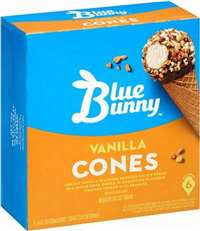 VANILLA CHAMP CONES 6CT