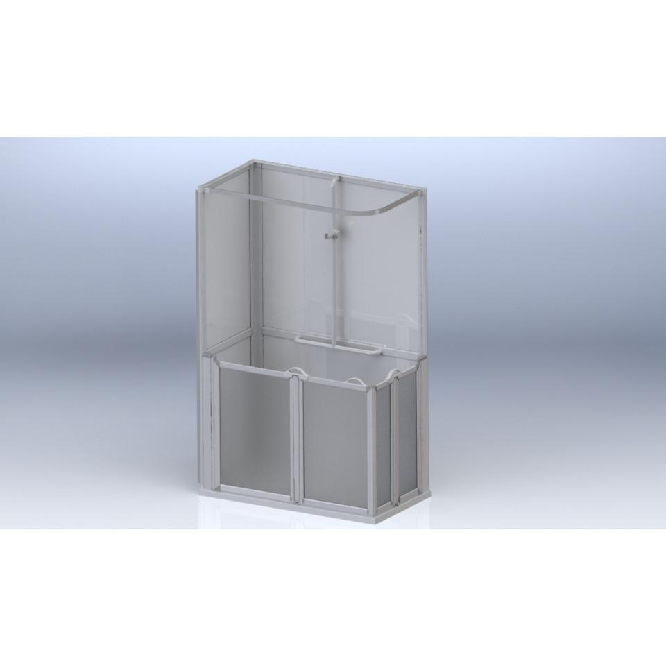 AKW Standalone Shower Cubicle Pod - Option E