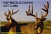 Muzzleloading Bullets Gift Certificate