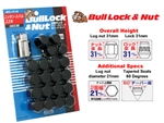 BULL LOCK WITH NUT SET CLOSE ENDED *BLACK*