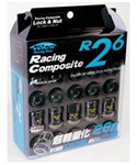 Project Kics R26 Open-Ended Lug Nuts - Set of 16 with 4 locks