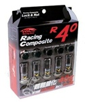Project Kics R40 Open-Ended Lug Nuts - Set of 16 with 4 locks