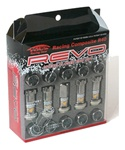 Project Kics R40 REVO Open-Ended with Cap Lug Nuts - Set of 20