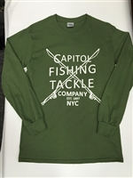 Capitol Fishing Tackle Company Famous Long Sleeve T-Shirt Army Green