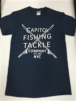 Capitol Fishing Tackle Company Apparel Crossed Rod Blue T-Shirts