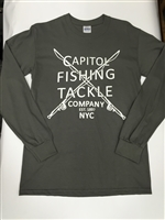 Capitol Fishing Tackle Company Famous Long Sleeve T-Shir tGray