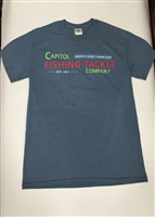 Capitol Fishing Tackle Company Famous Neon Sign T-Shirt Light Blue