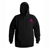 Grundens Eat Scallops Hooded Pink Logo Sweatshirt