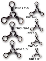 Tsunami Three Way Swivels