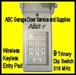 Allstar 9931-WKE: Wireless Keypad 318MHz