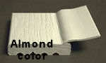 PVC Stop Molding Top Flap Seal Almond, 7ft. Length, box of 15pcs.