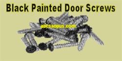 "Black Painted Door Hardware Screws #10 x 1"" Qty. 25 pcs."