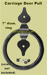 "Carriage House Steel Door Pull (Knocker)  7"", Qty 1"