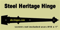 "Carriage House Stamped Steel Heritage Hinge 18"" Qty. 4"