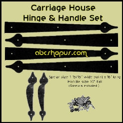 Carriage House Spear Hinges and handles set