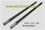 "1/2"" to 7/16"" x 18"" long, Machined Winding Bars"