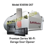Liftmaster 8365W-267 Security+ 2.0 Chain Drive 1/2 hp AC Chain Drive Garage Door Opener