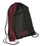 drawstring backpack maroon/black