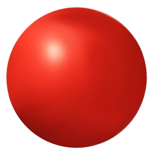 Ball - red foam 2.75""