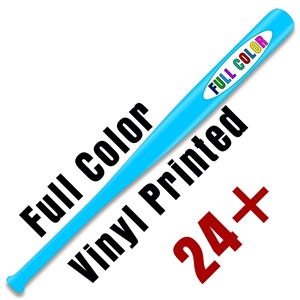 "Custom Vinyl Printed Natural or Colored 18"" Baseball Bat - 24 piece minimum - Full Color Print"