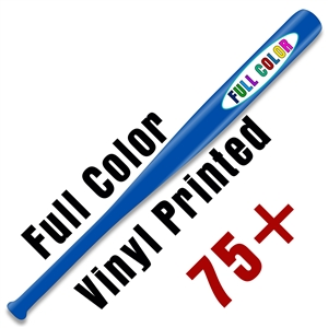 "Custom Vinyl Printed Natural or Colored 18"" Baseball Bat - 48 piece minimum - Full Color Print"