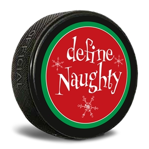 define naughty hockey puck
