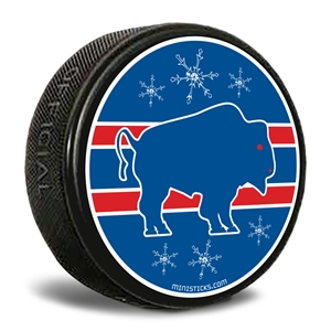 Buffalo Red/Blue Hockey Puck