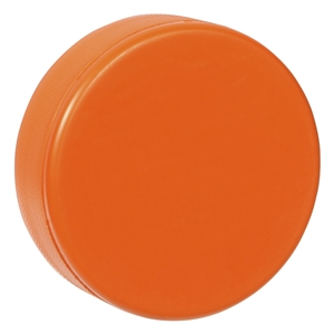 orange hockey puck, foam hockey puck orange