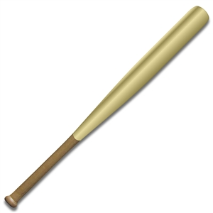 gold barrel mini baseball bat
