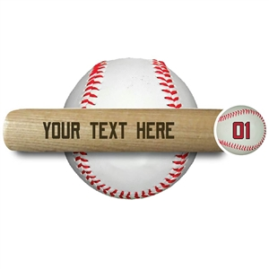 "ENGRAVED 18"" MINI BASEBALL BAT - one line of text"