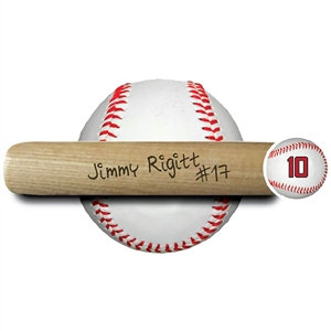 "engraved 18"" souvenir baseball bat ""add your signature"""