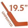 unprinted plastic orange mini goalie stick 19.5""