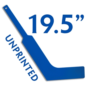 unprinted plastic royal blue mini goalie stick 19.5""