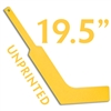 unprinted plastic yellow mini goalie stick 19.5""