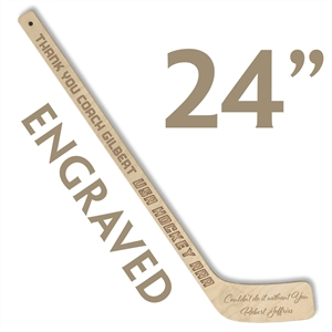 custom engraved wood mini hockey stick