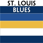 St. Louis Blues team colors custom printed mini hockey stick. Personalized mini hockey stick by ministixx.