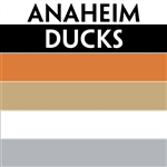 Anaheim Ducks team colors custom printed mini hockey stick. Personalized mini hockey stick by ministixx.