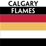 Calgary Flames team colors custom printed mini hockey stick. Personalized mini hockey stick by ministixx.