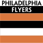 Philadelphia Flyers team colors custom printed mini hockey stick. Personalized mini hockey stick by ministixx.