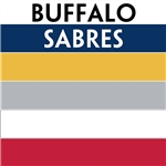 Buffalo Sabres team colors custom printed mini hockey stick. Personalized mini hockey stick by ministixx.