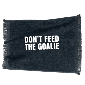 don't feed the goalie skate towel