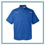 Columbia Men's Tamiami II Short-Sleeve Shirt with Custom Embroidery, Columbia Promotional Shirts, Columbia Corporate Apparel