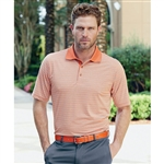Bobby Jones XH2O Heathered Stripe Polo with Custom Embroidery, Bobby Jones BJ230352 Custom Embroidered, Custom Embroidered Bobby Jones Polo Shirts, Embroidery on Bobby Jones polos, Bobby Jones ASI, Bobby Jones Corporate