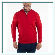 Bobby Jones Solid Liquid Cotton Long Sleeve 1/4-Zip Pullover with Custom Embroidery, Custom Embroidered Bobby Jones Pullovers, Embroidery on Bobby Jones sweaters, Bobby Jones ASI, Bobby Jones Corporate