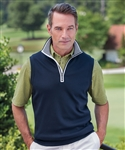 Bobby Jones Leaderboard Quarter Zip Vest with Custom Embroidery, Custom Embroidered Bobby Jones Vests, Embroidery on Bobby Jones Vests, Bobby Jones ASI, Bobby Jones Corporate