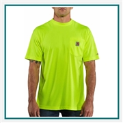 Carhartt Men's Force Color Enhanced Short-Sleeve T-Shirt with Custom Embroidery, Custom Logo Carhartt shirts, Embroidered Carhartt force shirts