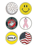 Classic Marker Collection with Custom Logo, Custom  Ballmarkers, Custom Logo Ballmarkers, Custom Ballmarkers, Promotional Classic Markers