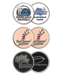 2-Sided Ball Marker with Custom Logo, Custom Poker Chip Ballmarkers, Custom Logo Ballmarkers, Custom Ballmarkers, Promotional Poker Chip Markers