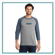 District Made Mens Perfect Tri 3/4-Sleeve Raglan. DM136 with Silkscreen Logo, Custom Logo District Made T-Shirts, District Made 136 T-Shirt Best Price